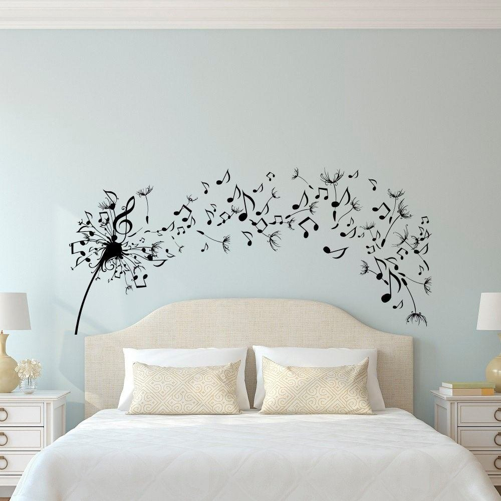 Best Dandelion Wall Decal Bedroom Music Note Wall Decal Dandelion With Pictures