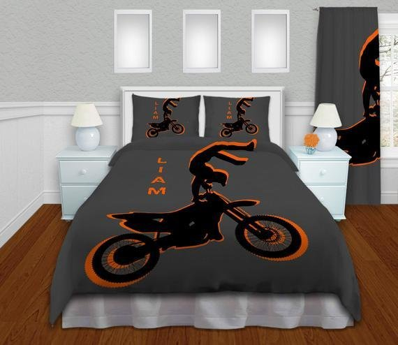 Best Orange Boys Motocross Bedding Sets By Eloquentinnovations With Pictures