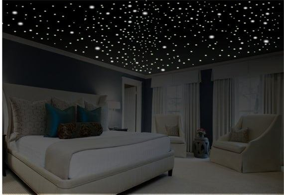 Best Romantic Bedroom Decor Glow In The Dark Stars Romantic With Pictures
