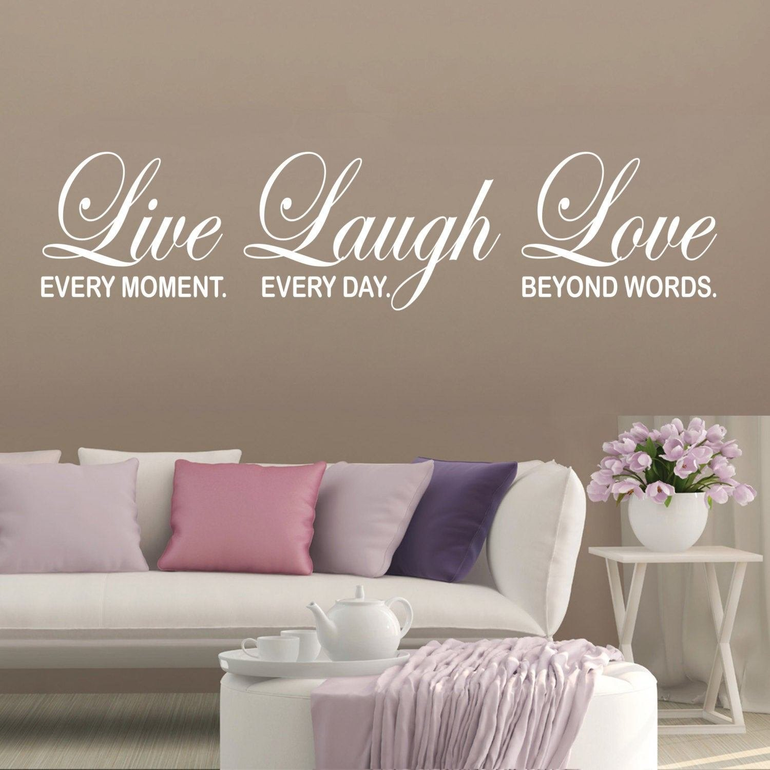 Best Bedroom Wall Decal Inspirational Quote Live Laugh Love Home With Pictures