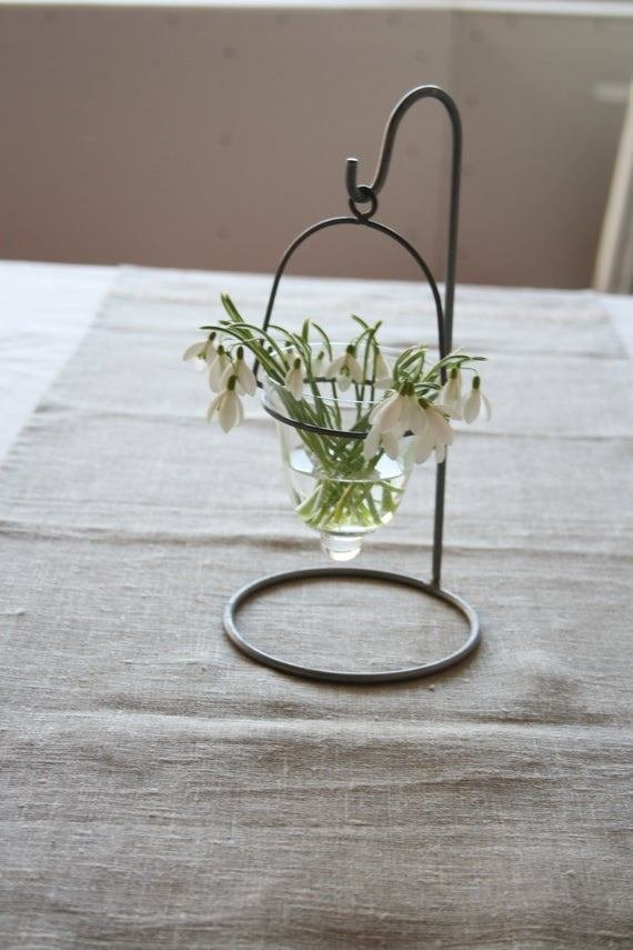 Best Glass Vase In Metal Stand Flower Table Decor Wedding Decor With Pictures