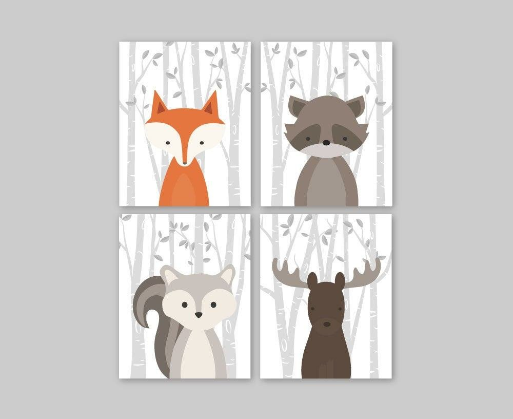 Best Baby Nursery Decor Baby Nursery Wall Art Woodland Nursery With Pictures