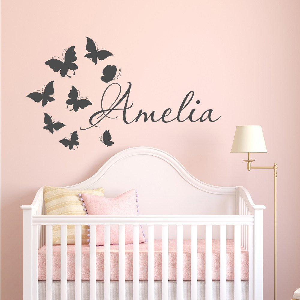 Best Name Wall Decal Girl Butterfly Name Wall Decal Personalized With Pictures