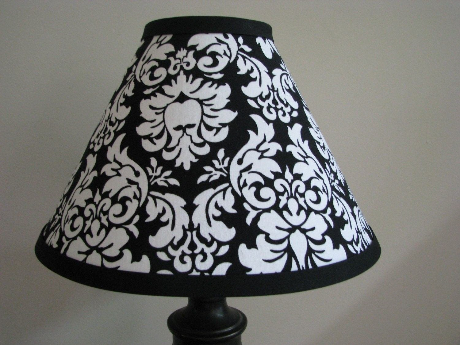 Best Black And White Damask Lamp Shade Bedroom Nursery With Pictures
