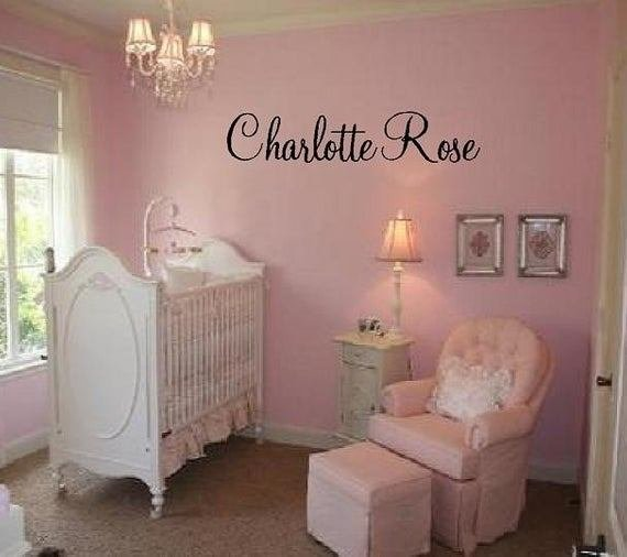 Best Custom Name Vinyl Wall Decal Elegant And Fun Baby Nursery Girl With Pictures