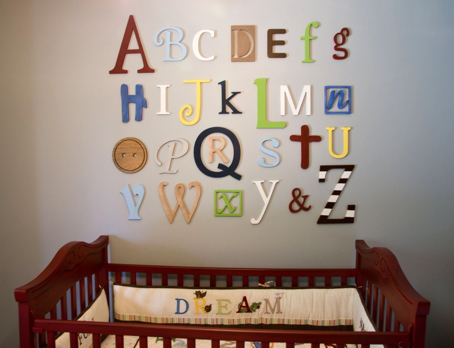 Best Wooden Alphabet Letters Set Painted Wooden Letters Wall With Pictures