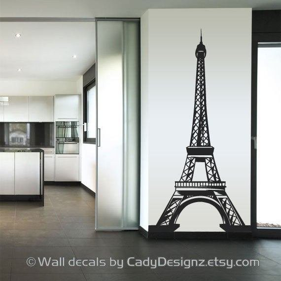 Best Eiffel Tower Vinyl Wall Decal Home Decor By Studio378Decals With Pictures