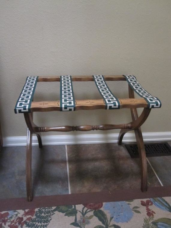 Best Vintage Luggage Rack Mid Century Mod By Folkaltered On Etsy With Pictures