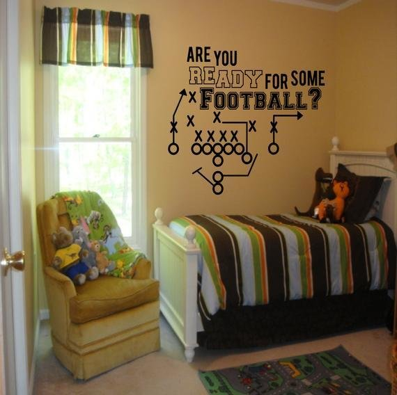 Best Are You Ready For Some Football Decal Boys Room Decor With Pictures
