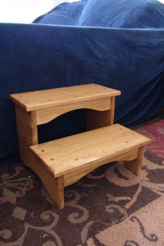Best Handcrafted Heavy Duty Step Stool Wooden *D*Lt Bedside With Pictures