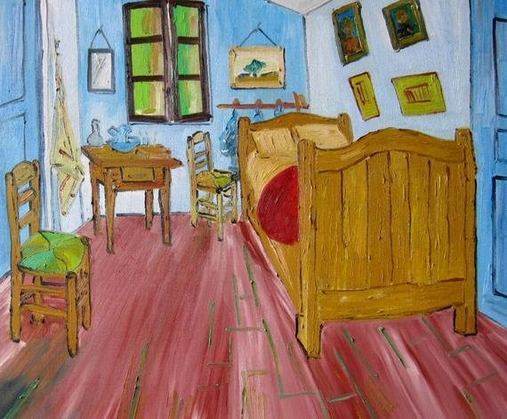 Best Vincent Van Gogh The Bedroom Hand Painted Oil Painting 60X50 With Pictures