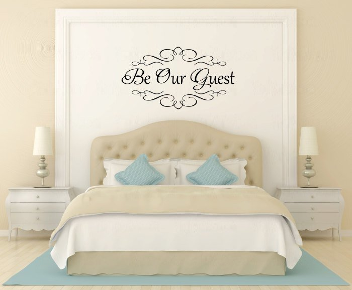 Best Be Our Guest Vinyl Wall Decal Heavy Flourish Wall Sticker With Pictures