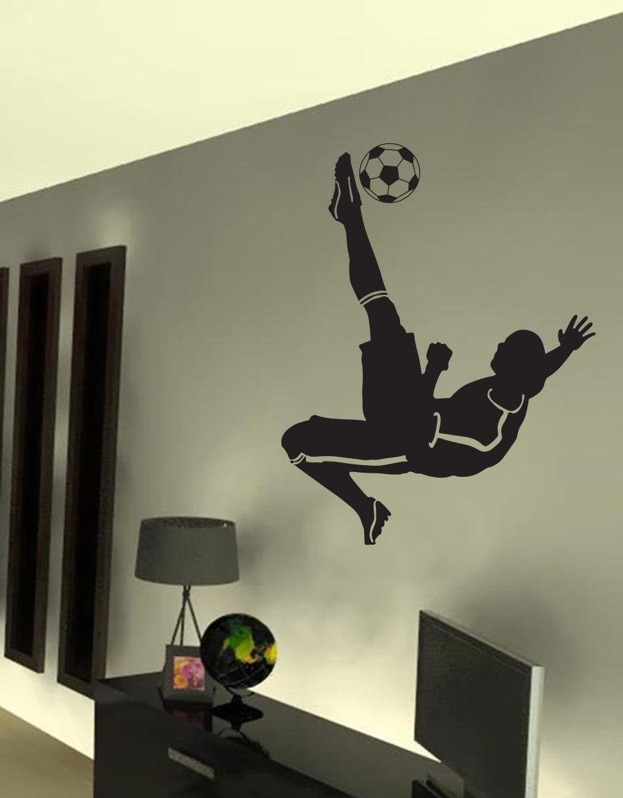 Best Kickback Soccer Football Player Boy Room Mural Wall Vinyl With Pictures