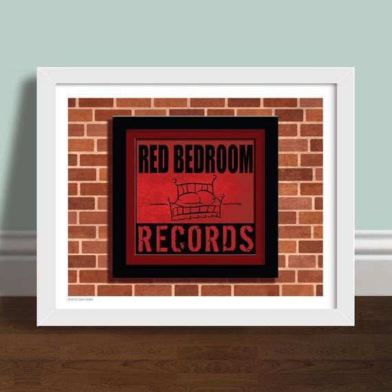 Best Red Bedroom Records One Tree Hill Art Print With Pictures