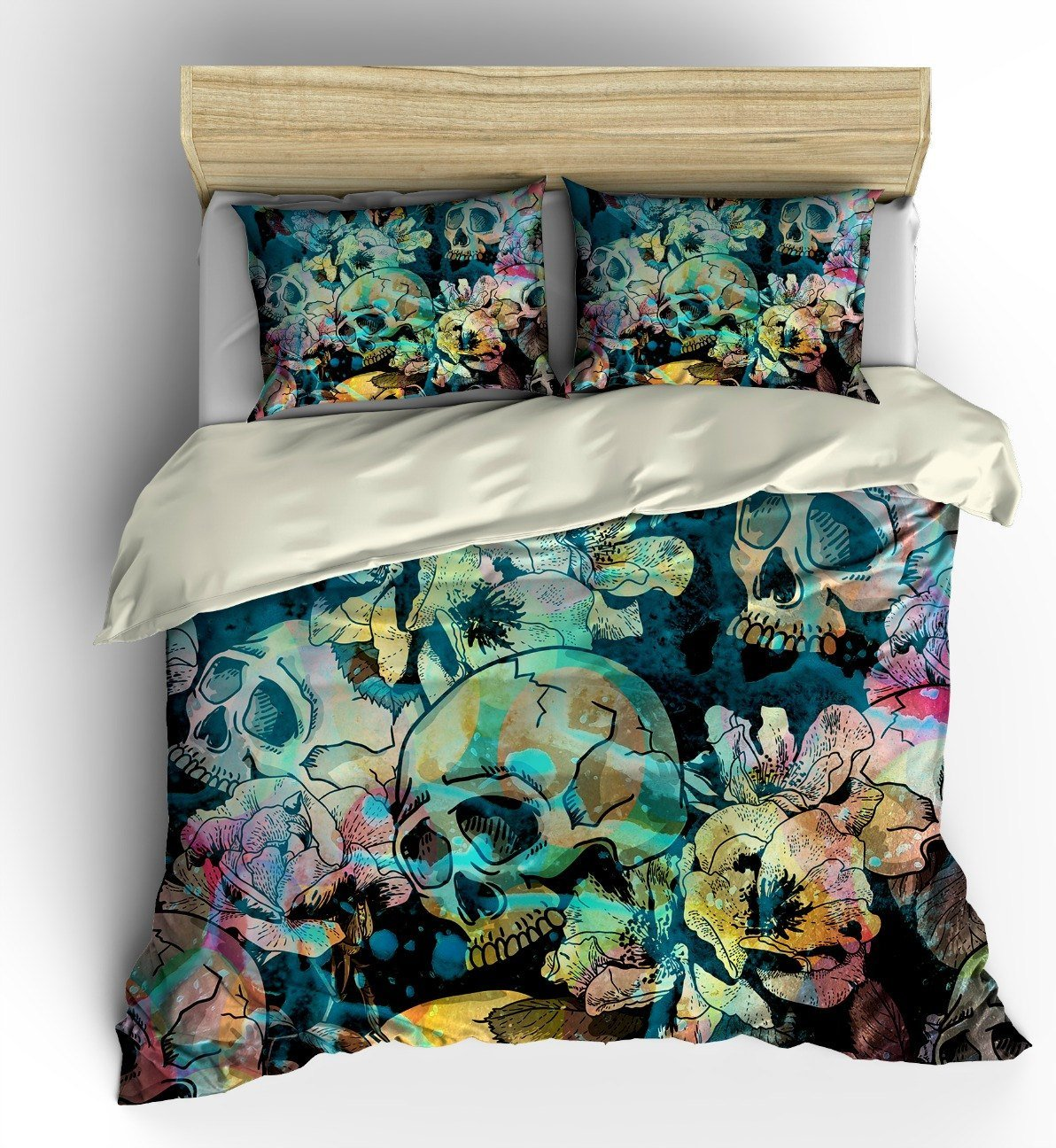 Best Sugar Skull Bedding Duvet Cover Set Calavera By Folkandfunky With Pictures