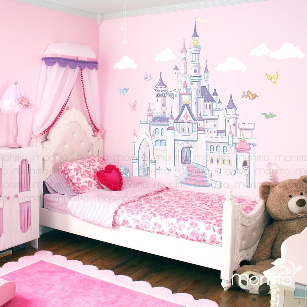 Best Disney Princess Castle With Colorful Birds And Squirrel Large With Pictures