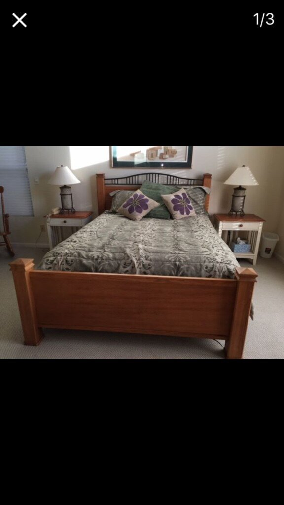 Best Used Thomasville Queen Size Bedroom Set Excellent With Pictures