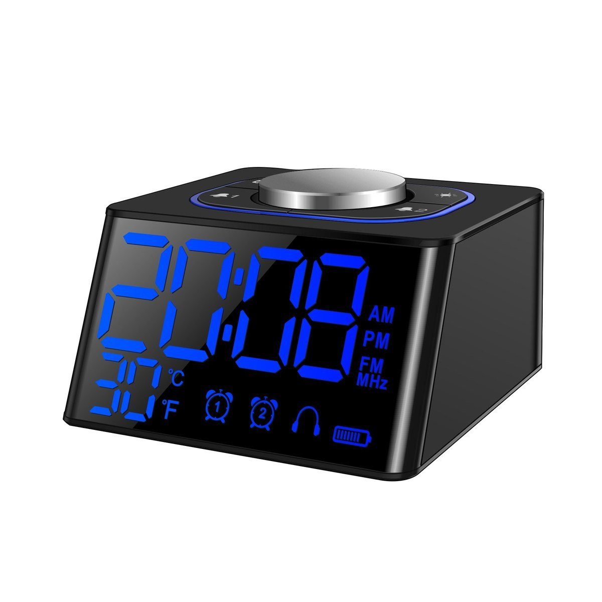 Best Bedroom Digital Lcd Snooze Alarm Clock Dual Usb Fm Radio With Pictures