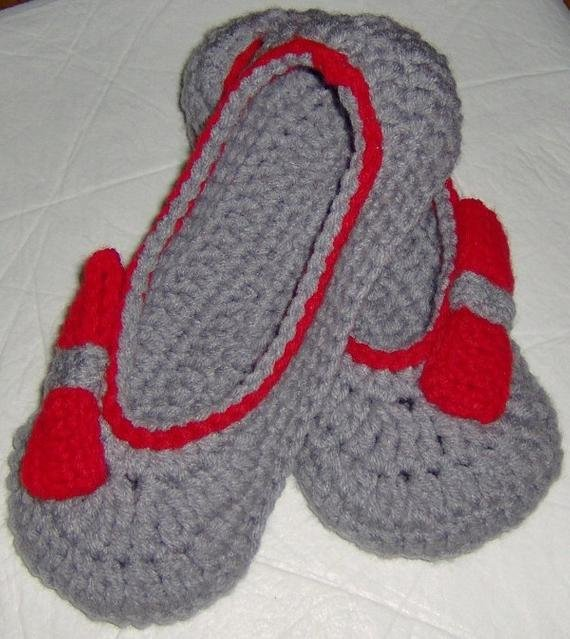 Best Crocheted Women House Slippers Bedroom Slippers For Women Etsy With Pictures
