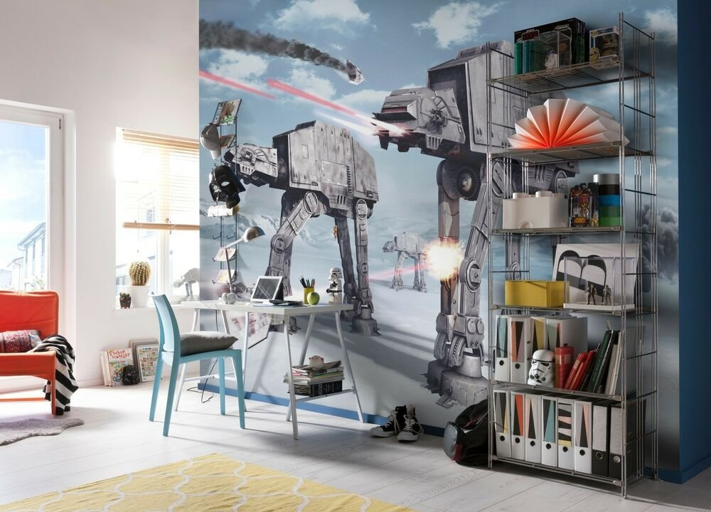 Best Giant Wallpaper 368X254Cm Star Wars For Kids Boys With Pictures