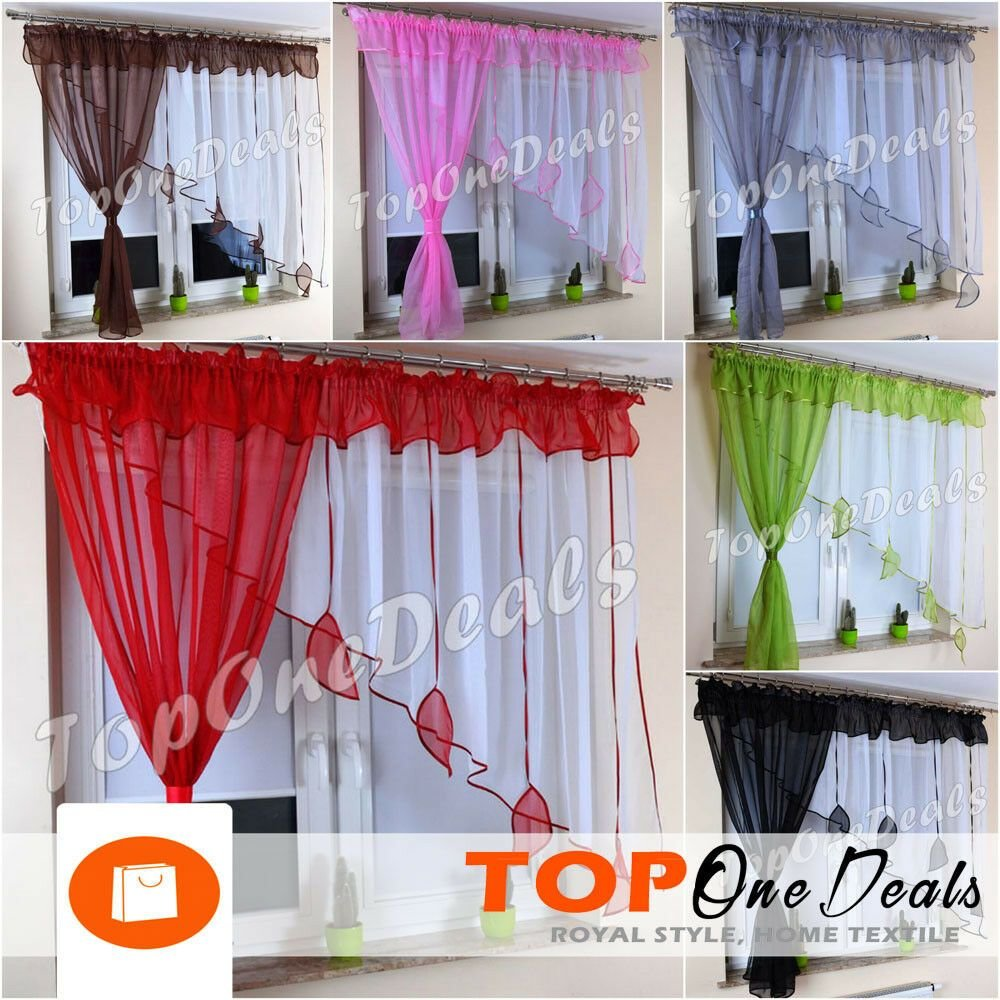 Best Amazing Voile Net Curtains With Leaves Ready Made Living With Pictures