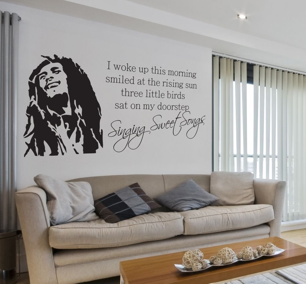 Best Bob Marley Sweet Songs Lyrics Quote Music Wall Sticker With Pictures