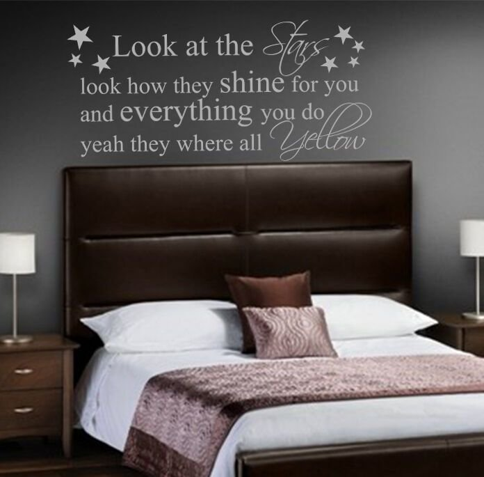 Best Coldplay Yellow Quote Vinyl Wall Art Sticker Decal Mural With Pictures
