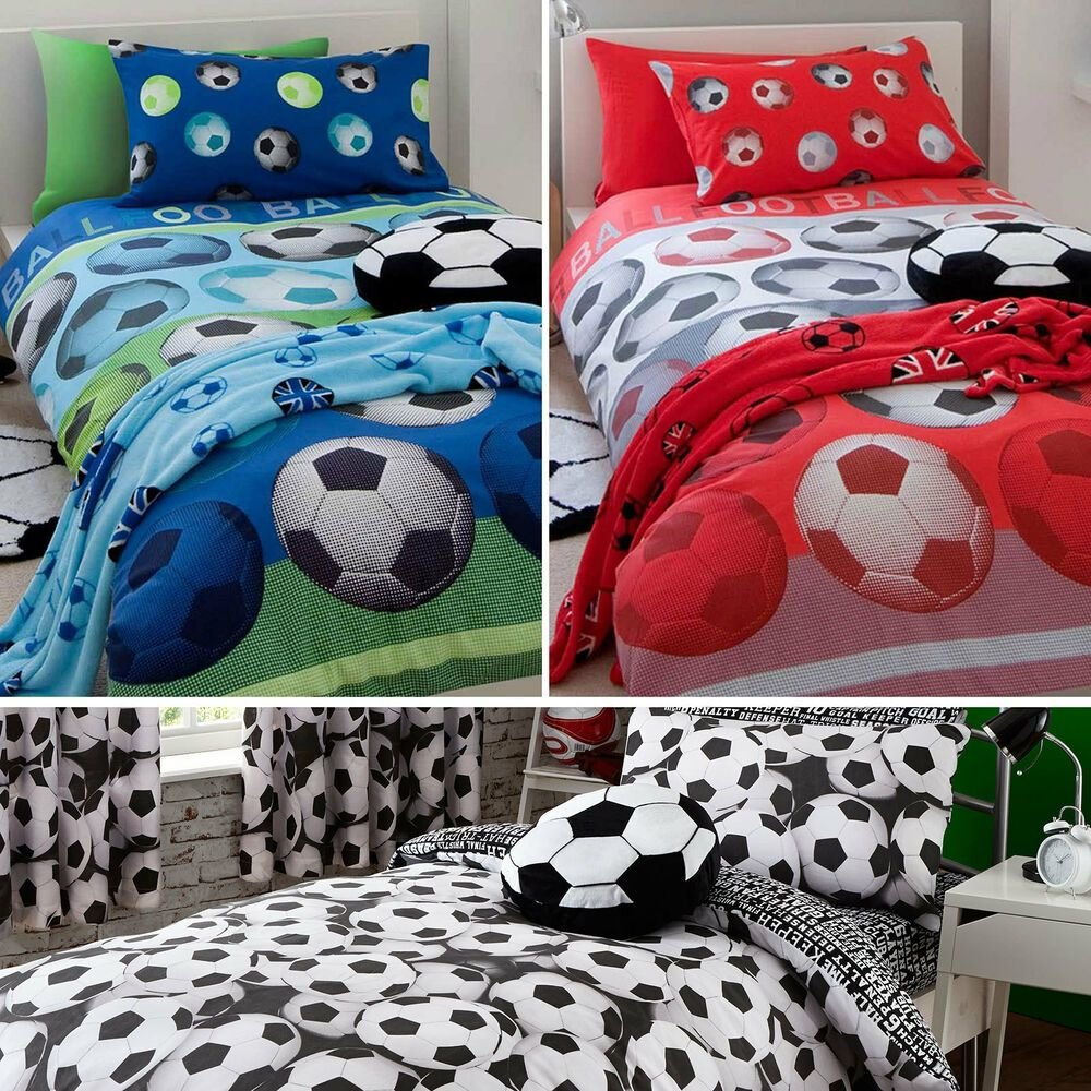 Best Kids Football Bedding Range Duvet Set Or Rug Or Cushion With Pictures