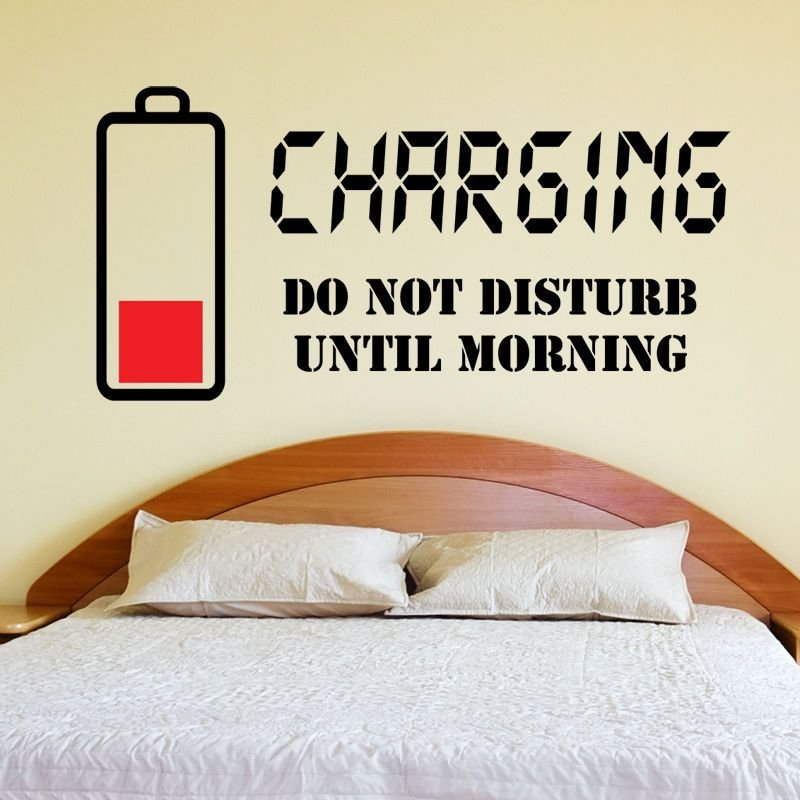 Best Charging Do Not Disturb Wall Sticker Wall Quote Art Decal With Pictures