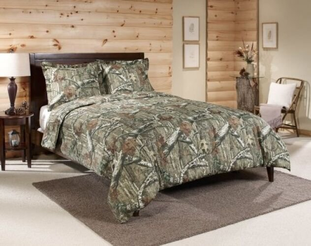 Best Queen Camo Comforter Set Mossy Oak Bedding Hunting Lodge With Pictures