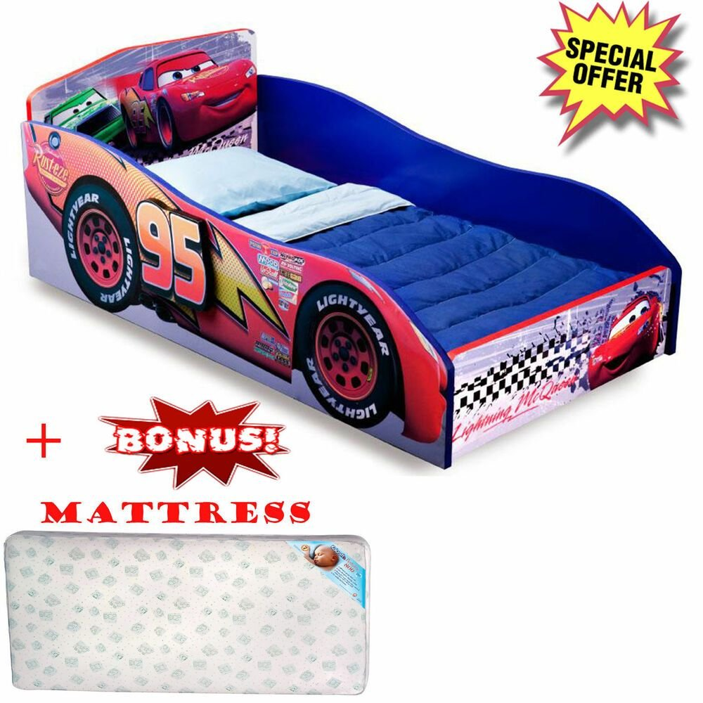 Best Toddler Bed Wooden Furniture With Mattress Disney Cars With Pictures