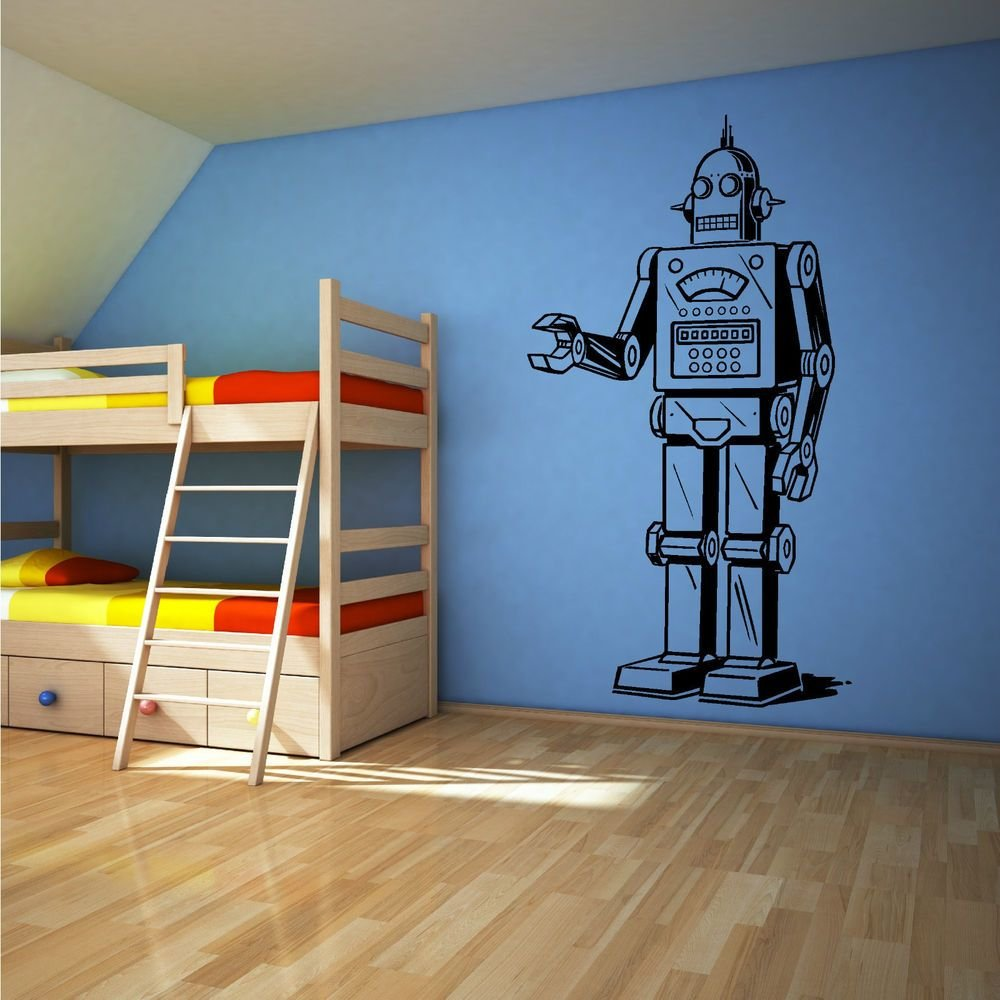 Best Robot Vinyl Wall Art Sticker Decal Boys Bedroom Childrens With Pictures