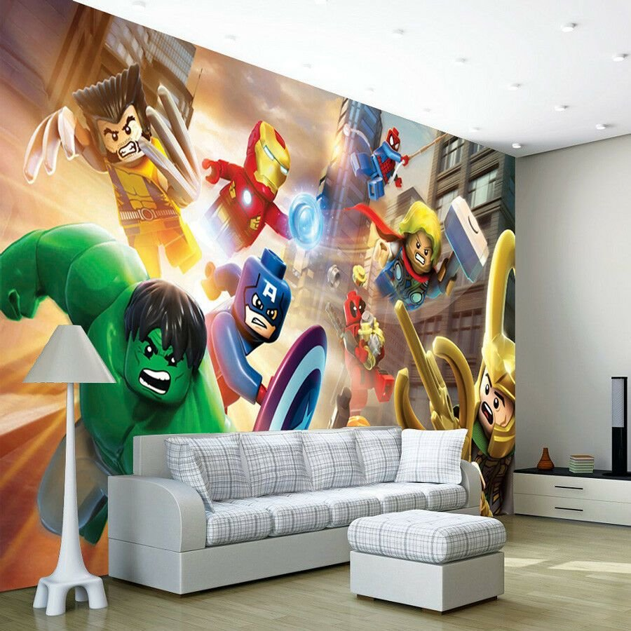Best Avengers Lego Heroes Wallpaper Wall Mural Photo Bedroom With Pictures
