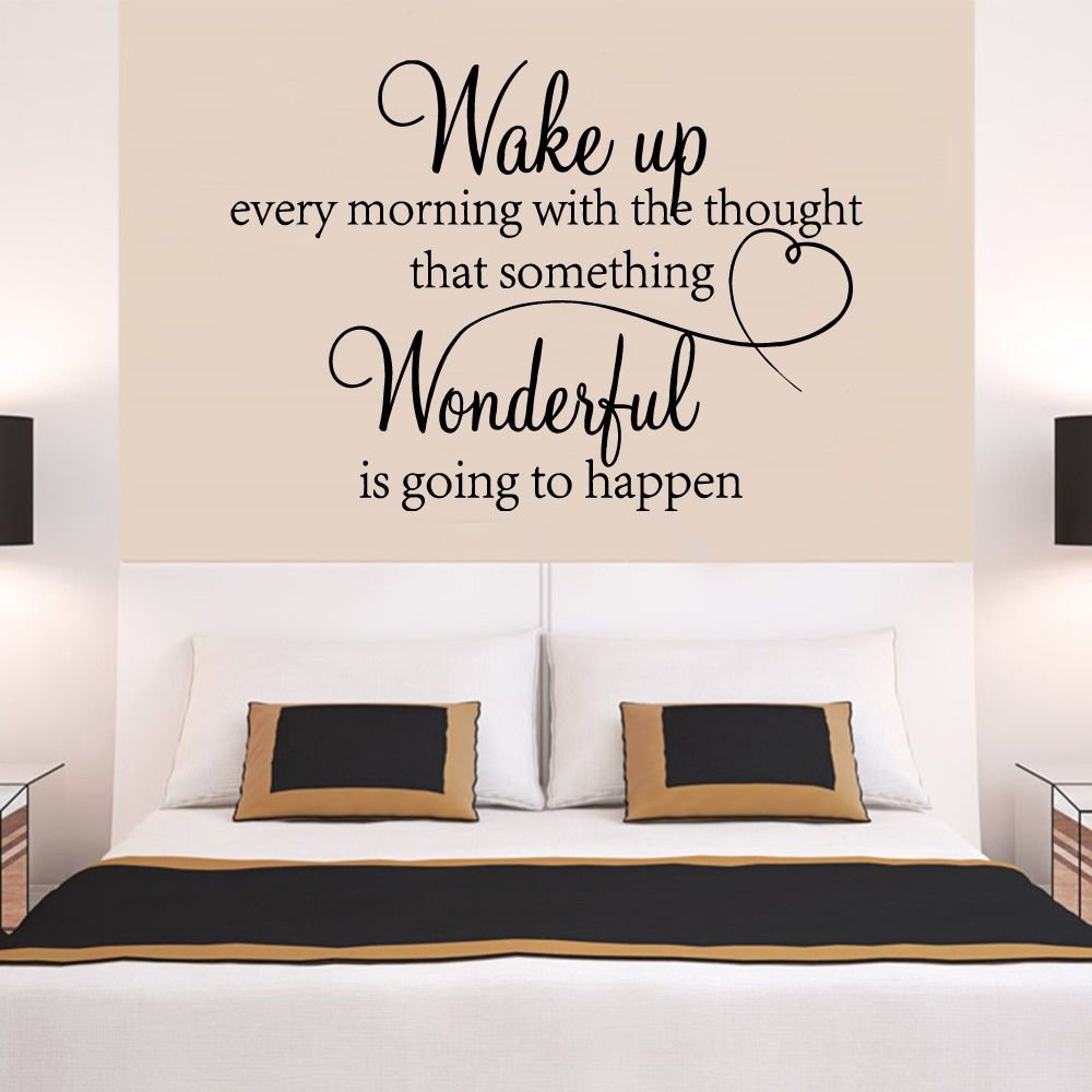 Best Heart Family Wonderful Bedroom Quote Wall Stickers Art Room Removable Decals Diy Ebay With Pictures