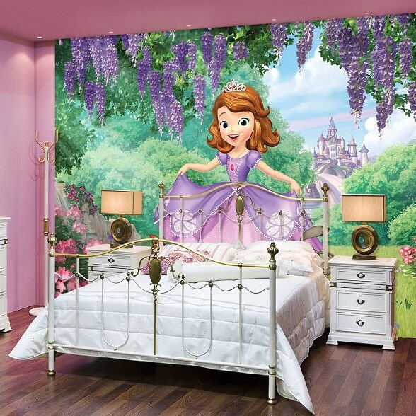 Best Disney Sofia The First Giant Mural Wall Decals Princess With Pictures