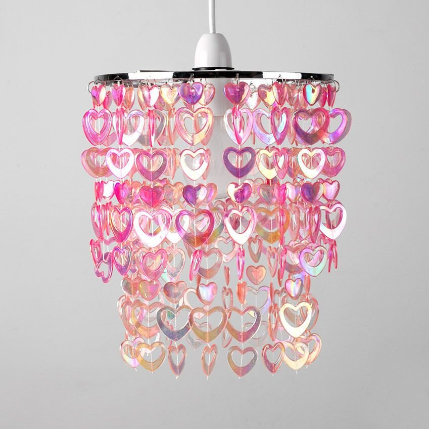 Best Girls Childrens Bedroom Nursery Pink Hearts Ceiling Light With Pictures Original 1024 x 768