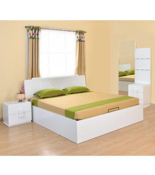 Best Buy Capital Queen Bedroom Set Home By Nilkamal Glossy With Pictures