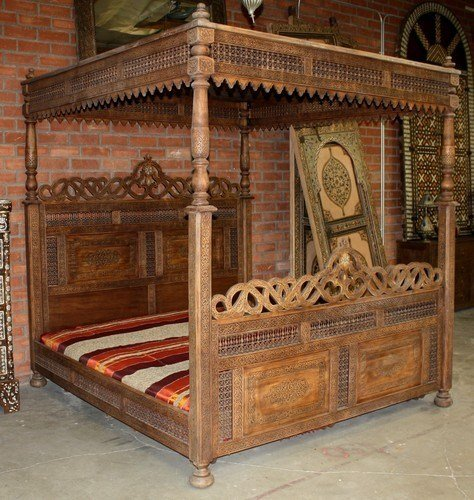 Best Hand Carved Wooden Bed Moroccan Furniture Los Angeles With Pictures