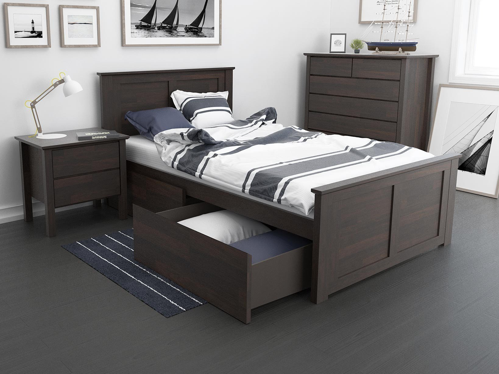 Best King Single Storage Bedroom Suites 50 75 Off Sale With Pictures