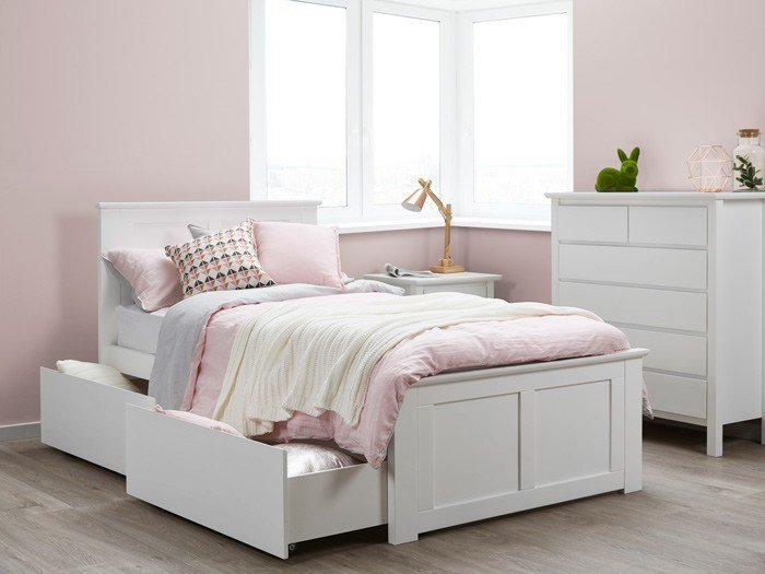 Best White King Single Storage Bedroom Suites 50 75 Off Sale With Pictures