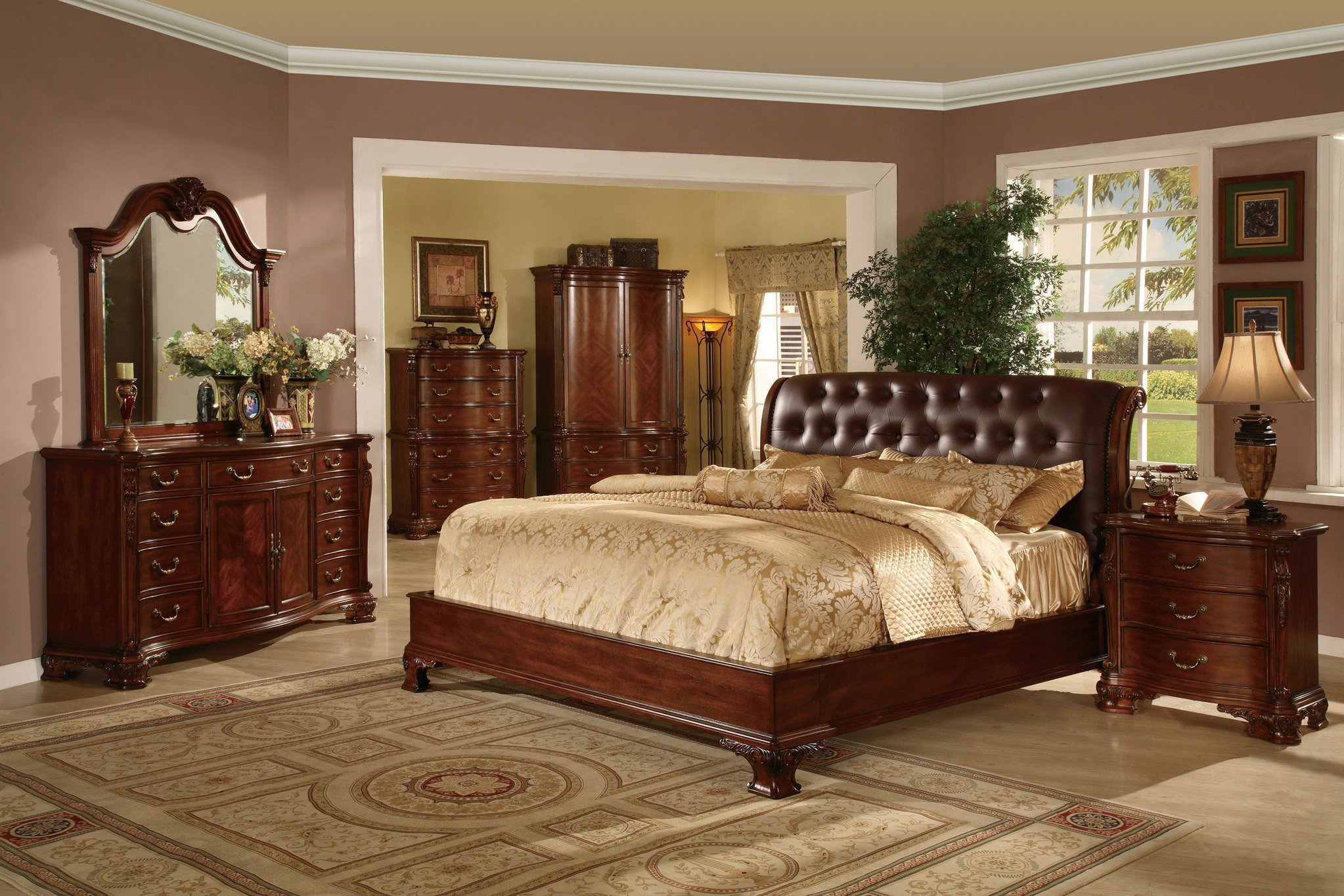 Best Tufted Leather Headboard Bed Traditional King And Queen With Pictures
