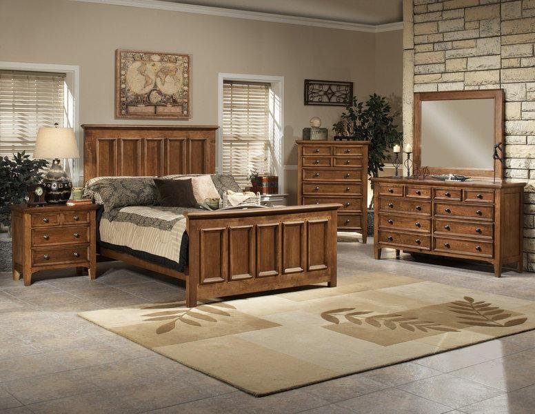 Best Rubber Wood Panel Bed Classic Wood Bedroom Furniture Set With Pictures