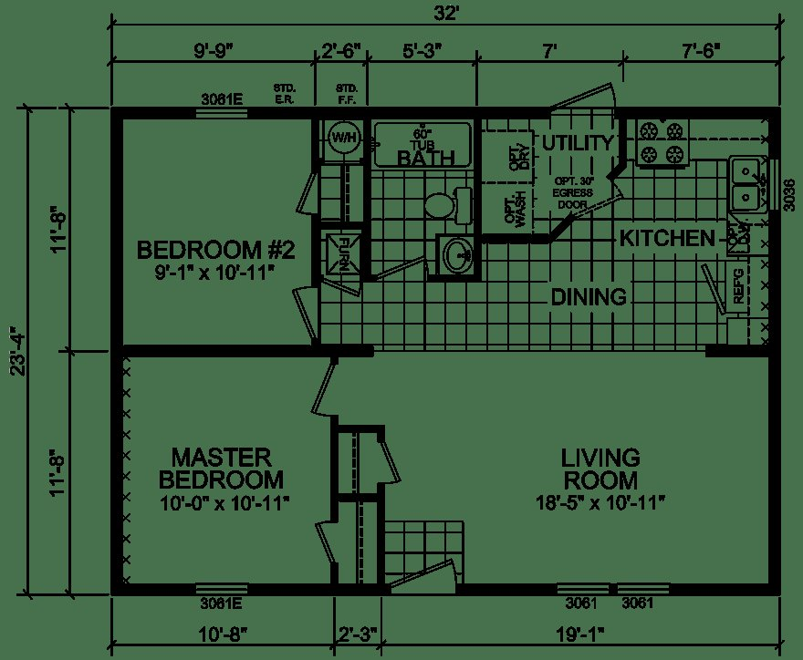 Best Washington 24 X 32 747 Sqft Mobile Home Factory Expo With Pictures