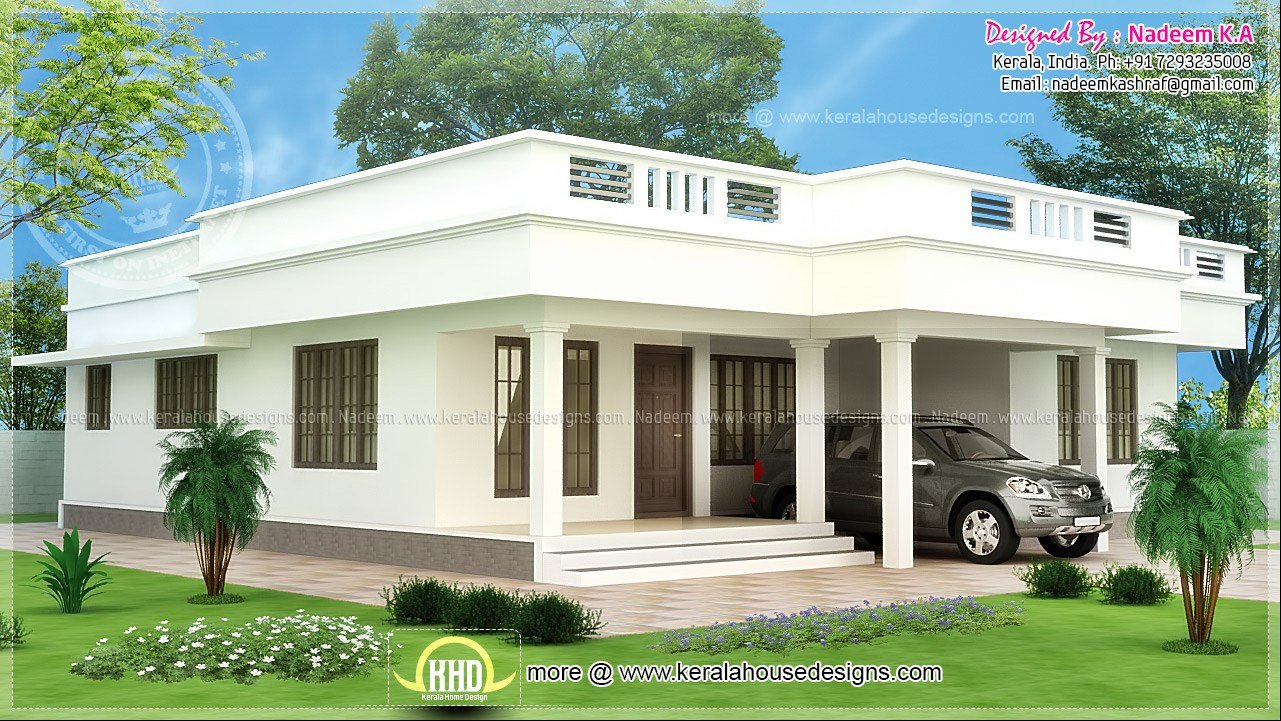 Best Flat Roof Single Storey Home Kerala Plans House Plans 65422 With Pictures