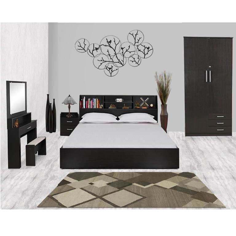 Best Royal Oak Wonder Storage Queen Size Bedroom Set Buy With Pictures
