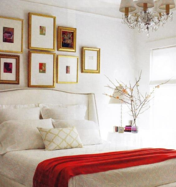 Best White Wingback Headboard Transitional Bedroom Elle Decor With Pictures