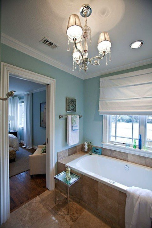 Best Spa Blue Paint Color Contemporary Bathroom Sherwin With Pictures