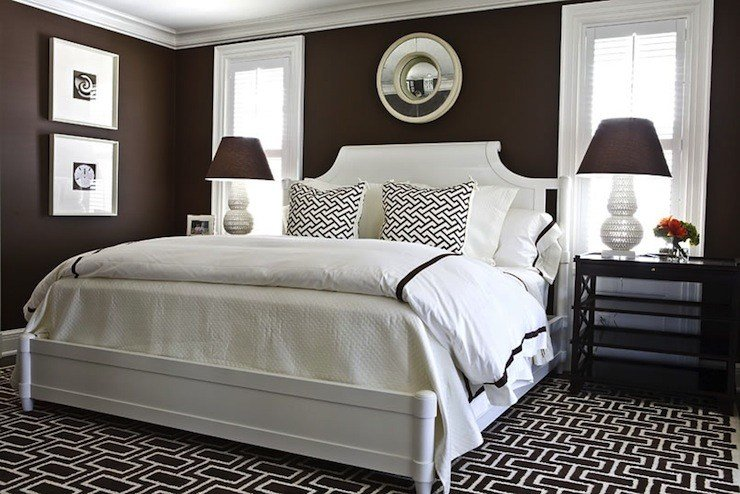 Best Brown Walls Transitional Bedroom Benjamin Moore With Pictures