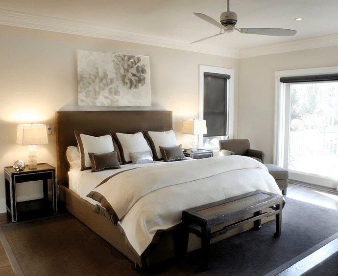 Best Brown Headboard Transitional Bedroom Elsa Soyars With Pictures