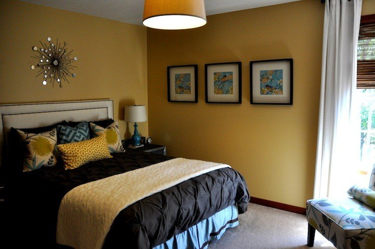 Best Mustard Yellow Paint Color Contemporary Bedroom With Pictures